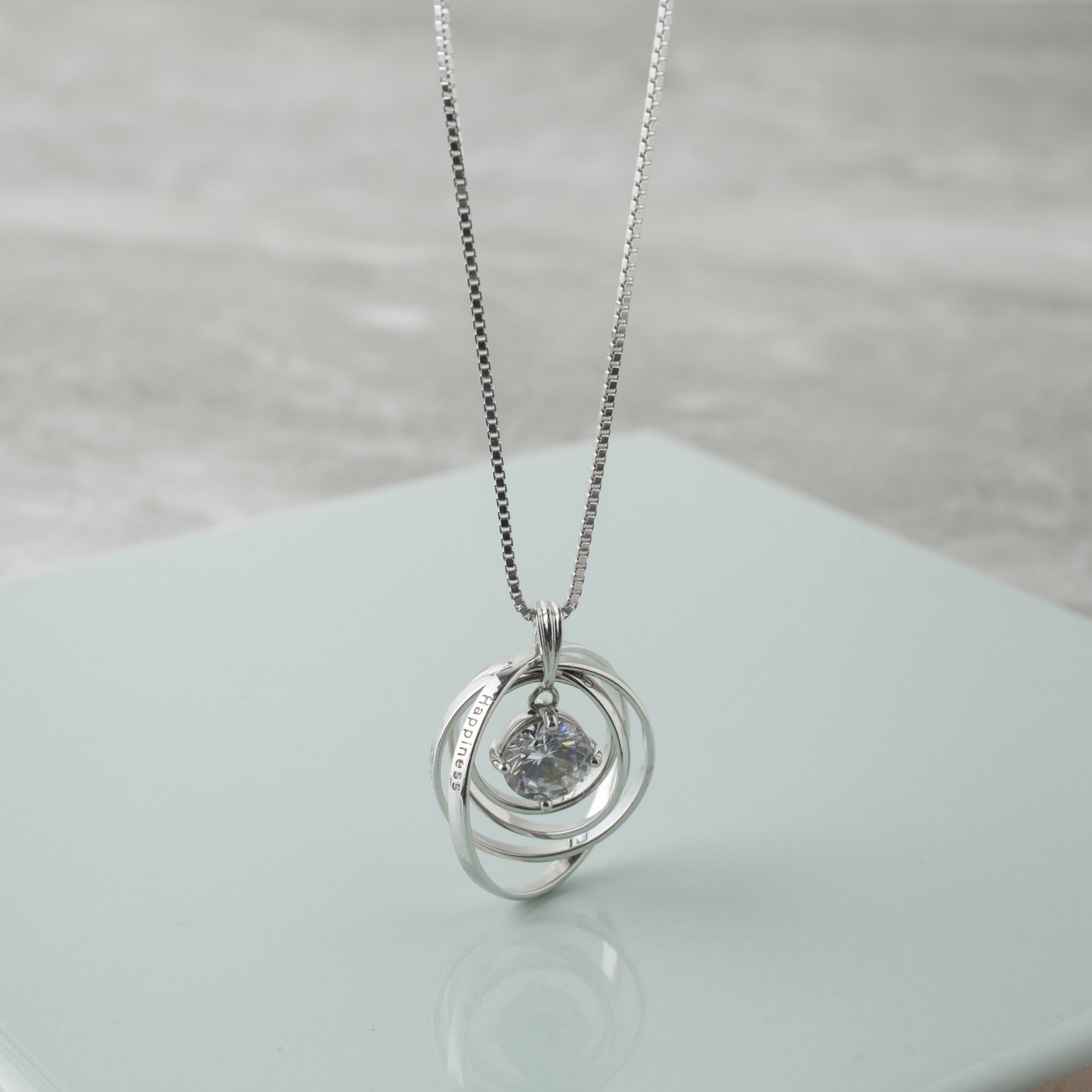 gallery jewelry necklace product in pendant silver lyst swarovski metallic normal yang yin