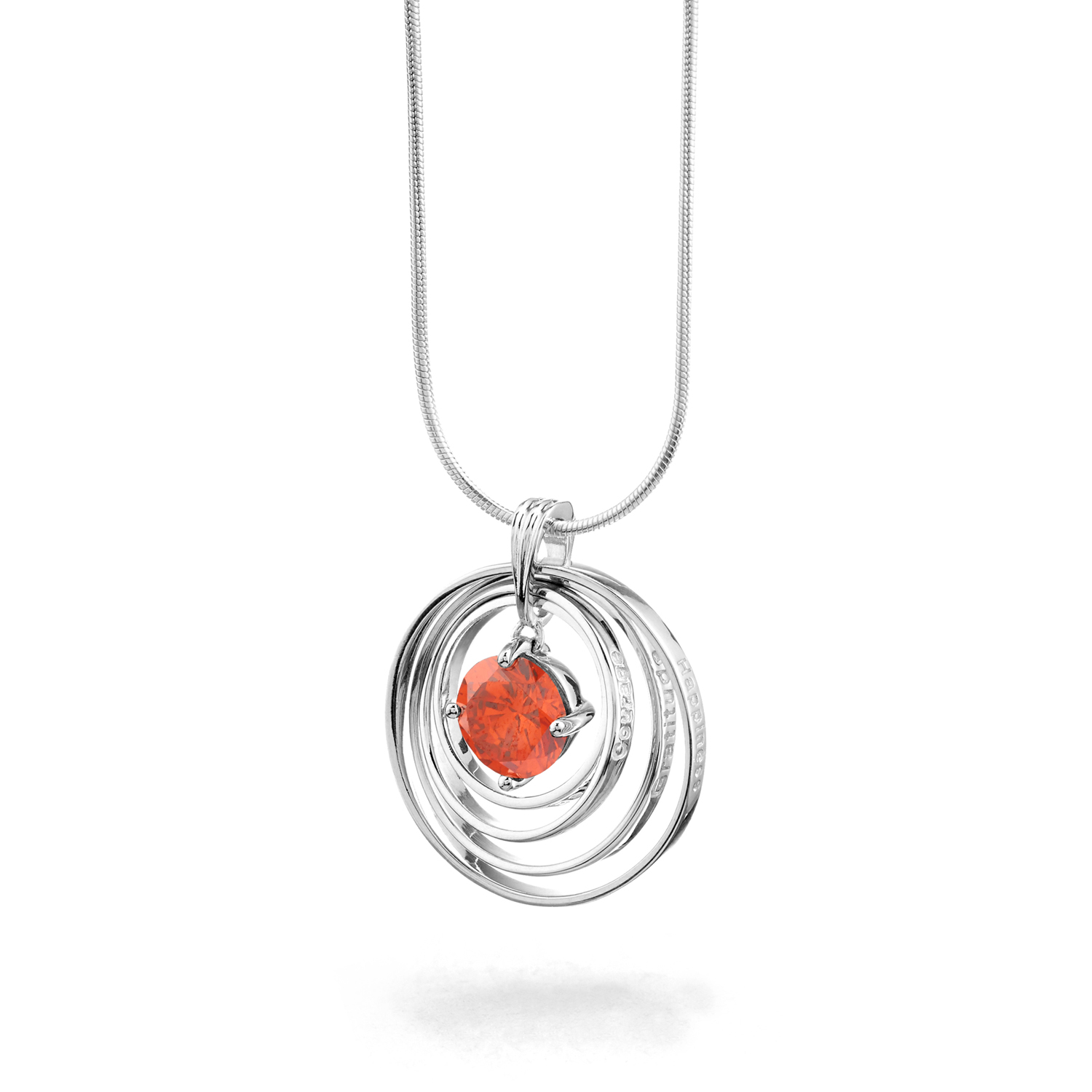 Synergy Necklace with orange love stone