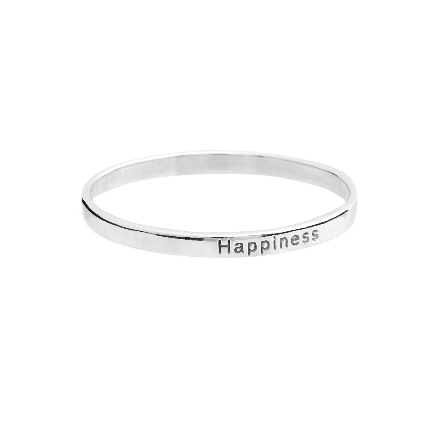 Silver Happiness Stacking Ring