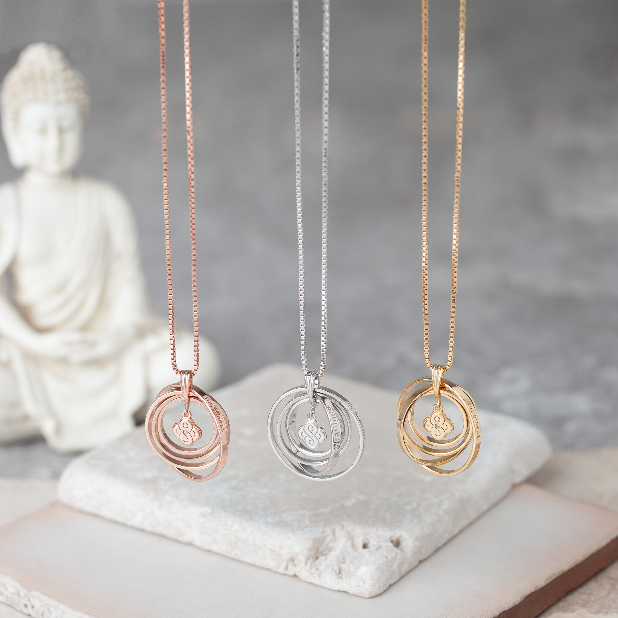 silver chain synergy aura necklace product symbol with mix courage double infinity happiness jewellery