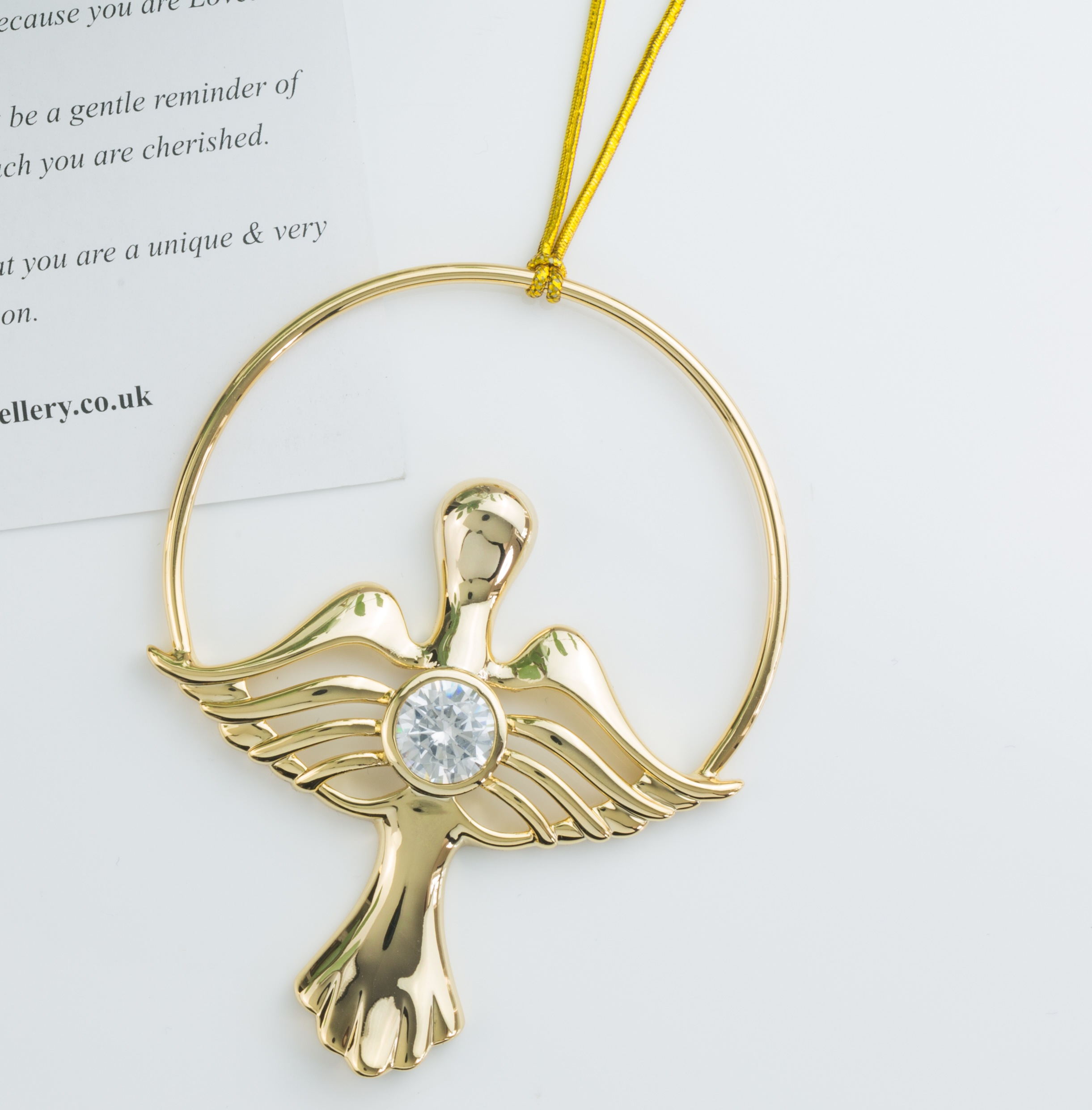 3e56dda1a Gold Angel of Love - Jophiel | Synergy Jewellery